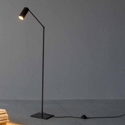 Stojací lampa ze železa a hliníku s nastavitelným světlem vyrobené v Itálii - Farla
