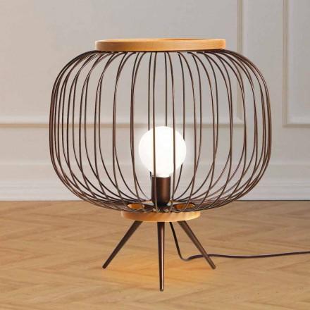 Lampa Moderní design broušená ocel 48xH 52 cm Leira