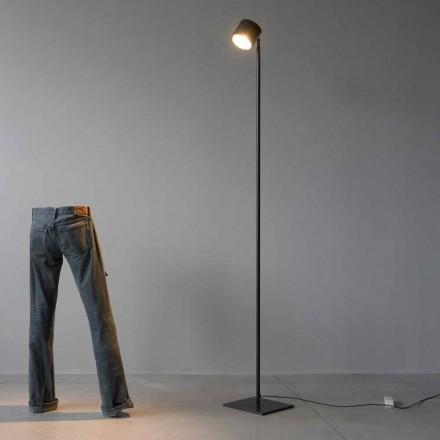 Minimální stojací lampa ze železa a černého hliníku vyrobená v Itálii - Osiris