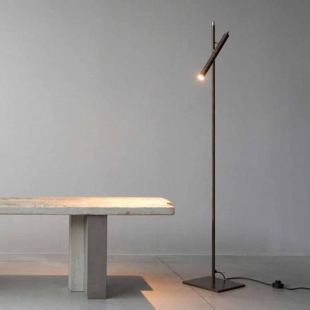 Stojací lampa v železném materiálu Zlatá povrchová úprava Vyrobeno v Itálii - Ginia