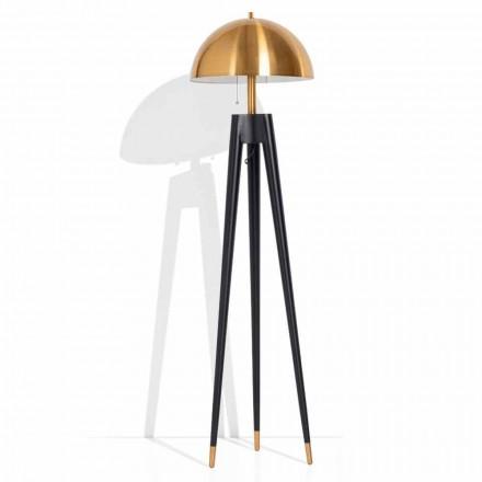 Moderní stojací lampa z kovu a mosazi vyrobená z Itálie - Peter