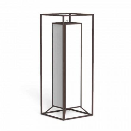 Venkovní podlahová lucerna z barevné oceli, luxusní LED - Cleo od Talenti