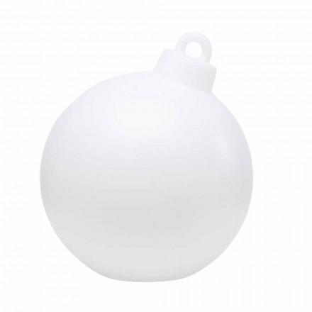 Vnitřní nebo venkovní dekorační lampa červená, bílá vánoční koule - Pallastar