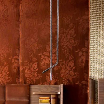 Grilli Snake vyrobený v Itálii koženou a kovovou designovou lampou