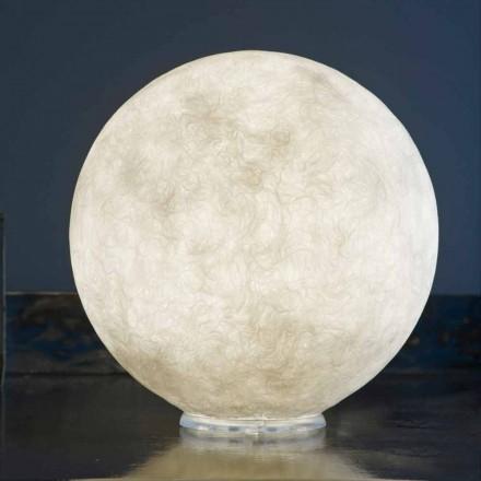 Konstrukční lampa stolku In-es.artdesign T.moon v bílém nebulitu