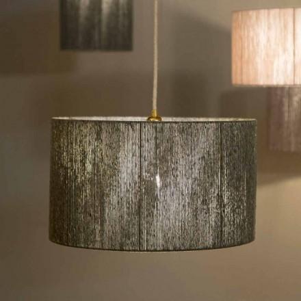 Závěsné designové svítidlo s d.45 v vlně vyrobené v Itálii Evita