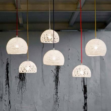 Lampa z bavlny a viskózy zavěšená In-es.artdesign Moderní textury