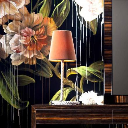 Tkanina a stolní lampa Grilli Snake vyrobená v Itálii