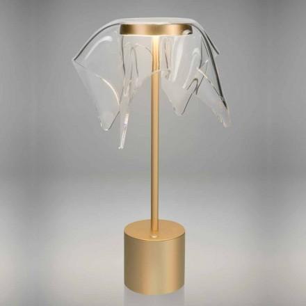 Dotyková LED lampa z barevného kovu a průhledného plexiskla - Tagalong