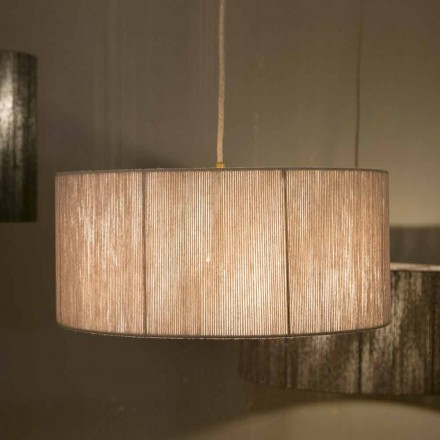 Moderní závěsná lampa z vlny vyrobená v Itálii Evita
