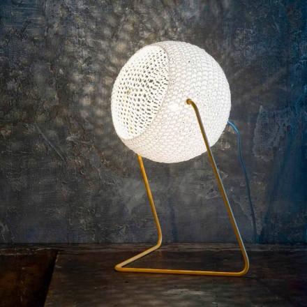 Moderní stolní lampa In-es.artdesign Ručně vyrobená bavlněná textura T1