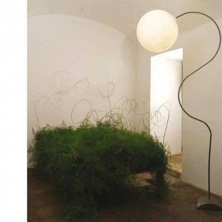 Moderní nebulitní stojací lampa in-es.artdesign Luna H210cm