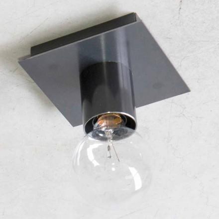 Ručně vyráběná nástěnná lampa z černého železa nebo kortenu vyrobená v Itálii - Alabama