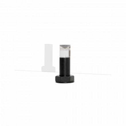 Moderní stolní lampa z černého kovu a plexiskla vyrobená v Itálii - Dalbo