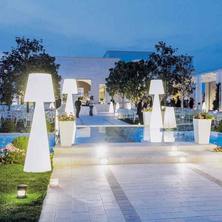 Moderní bílá venkovní stojací lampa Slide Pivot, vyrobená v Itálii