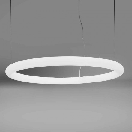Kulatá LED závěsná lampa z polyethylenu vyrobená v Itálii - Slide Giotto