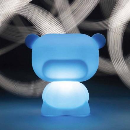 Svítelná stolní lampa ve tvaru Slide Pure bear, vyrobená v Itálii