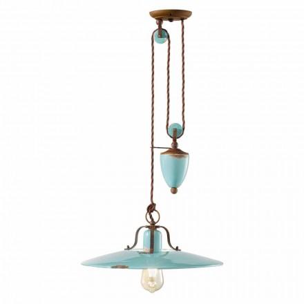 country a dolů lampa v kovovém a keramické řemesel Evelyn