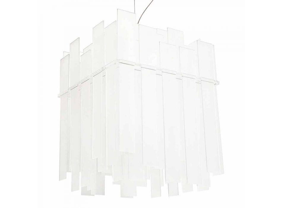 bílá závěsné svítidlo Moderní design Ketty 60x60cm Made in Italy