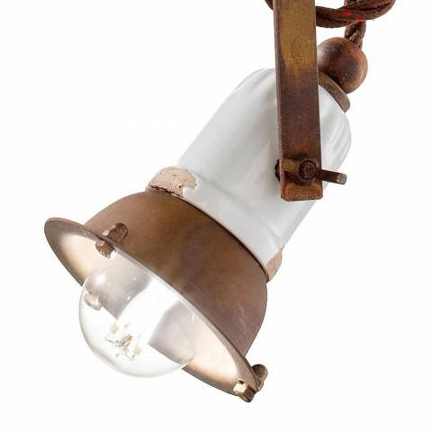 Nastavitelné závěsné svítidlo keramiky a metalo Alayna Ferroluce