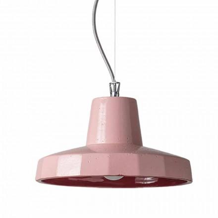 30cm závěsná lampa z mosazi a toskánského maiolica, Rossi Toscot