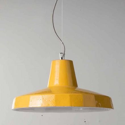 42cm závěsná lampa z mosazi a toskánského maiolica Rossi - Toscot