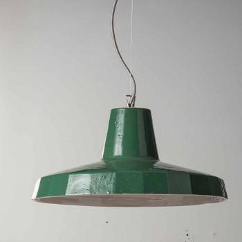 Závěsná lampa 42 cm v mosazi a toskánské majolice Rossi - Toscot