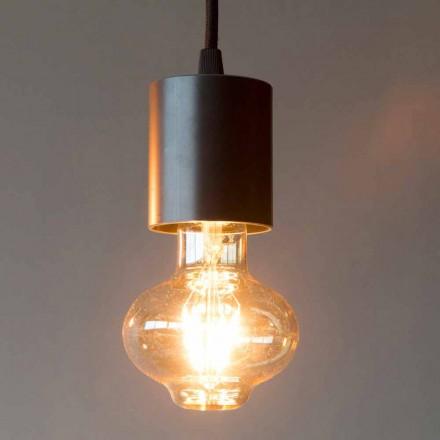 Ručně vyrobená železná závěsná lampa s bavlněným kabelem vyrobená v Itálii - Frana