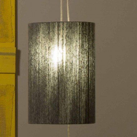 Závěsná / stojací lampa z mosazi a vlny vyrobená v Itálii Evita