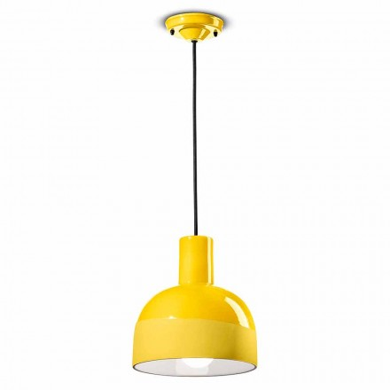 Moderní závěsná lampa v keramice Vyrobeno v Itálii - Ferroluce Caxixi