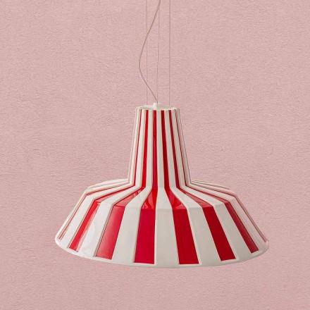 Moderní designová keramická závěsná lampa - Budin Aldo Bernardi