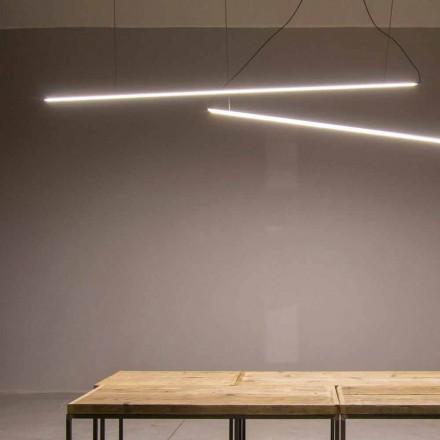 Závěsná lampa vyrobená ručně z hliníku s LED lištou vyrobená v Itálii - Ledda