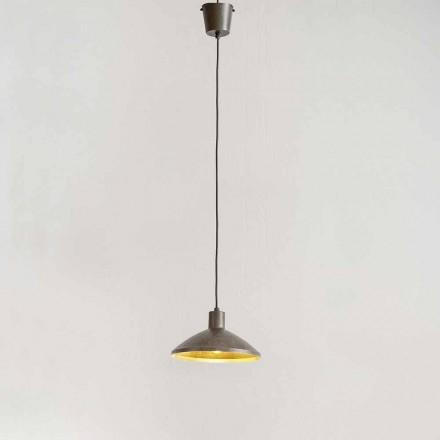 Závěsná lampa v antickém ocelovém průměru 310 mm - Materia Aldo Bernardi