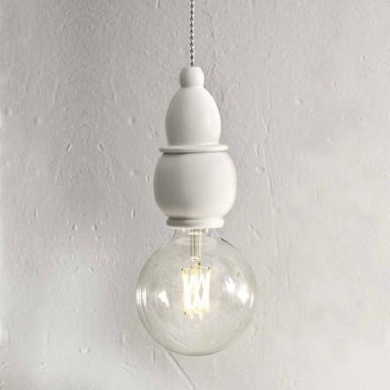Shabby Chic keramická závěsná lampa s kabelem 3m - osud Aldo Bernardi