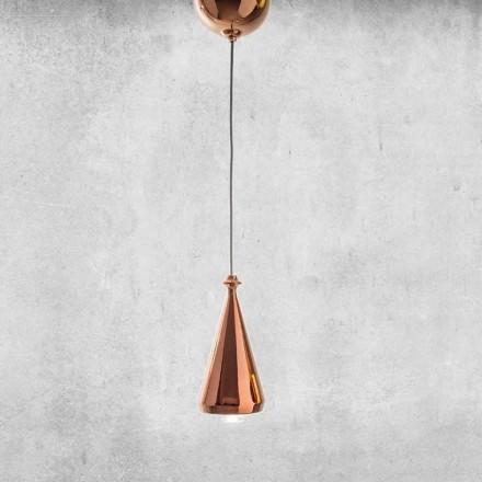 Designová LED závěsná lampa v keramice - Lustrini L2 Aldo Bernardi
