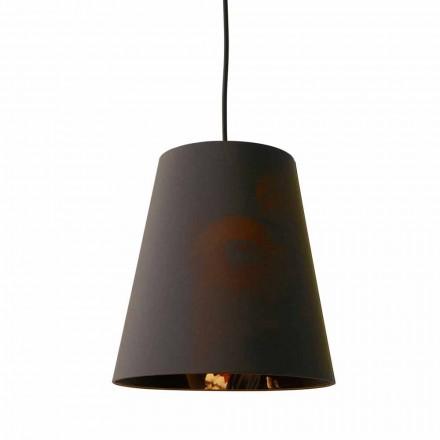 Závěsná lampa v antracitovém plátně s vnitřním designovým potiskem 2 velikosti - Bramosia