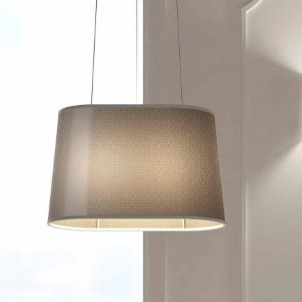 Závěsná kovová lampa se síťovým nebo lněným stínidlem vyrobené v Itálii - skok