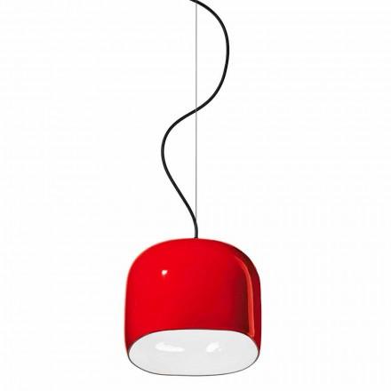 Moderní závěsná lampa v keramice Vyrobeno v Itálii - Ferroluce Ayrton