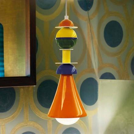 Moderní multicolor závěsné svítidlo Slide Otello Hanging, vyrobené v Itálii