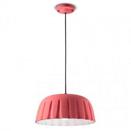 Vintage keramická závěsná lampa vyrobená v Itálii - Ferroluce Madame Grès