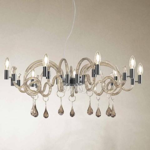 9 lehkých ručně vyráběných skleněných lustrů v Benátkách vyrobených v Itálii - Bernadette