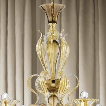 Artisan 6 lehký benátský skleněný lustr vyrobený v Itálii - Agustina