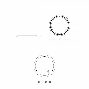 Lustr v bílém designu s kovovou růžicí vyrobený v Itálii - Slide Giotto