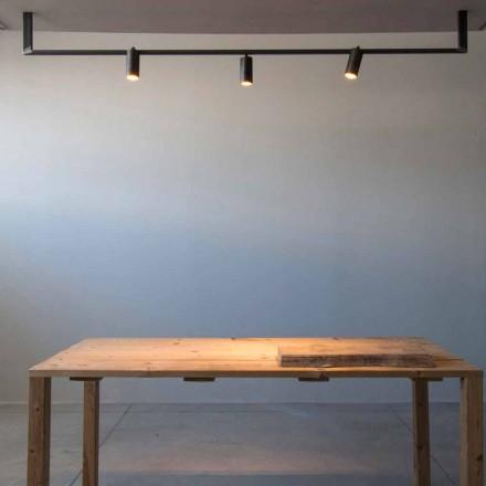 Moderní designový lustr vyrobený ručně z černého železa vyrobený v Itálii - Pamplona