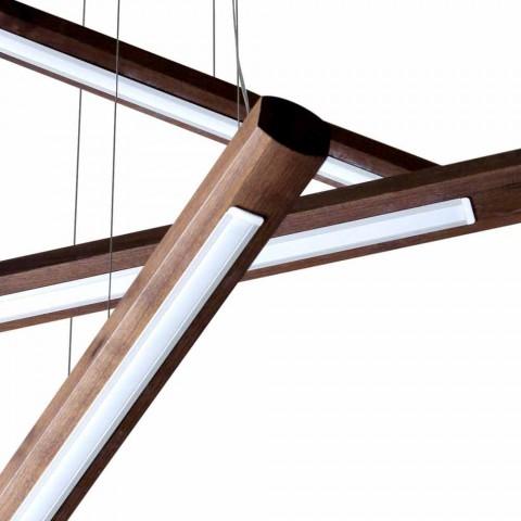 4-dílný designový lustr z dřeva Grilli York vyrobený v Itálii