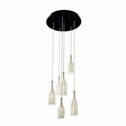 Designový lustr se 6 stínidly Grilli Mathusalem vyrobený v Itálii