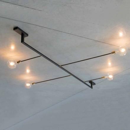 Ručně vyrobený lustr ze železa se 4 světly vyrobenými v Itálii - Anima