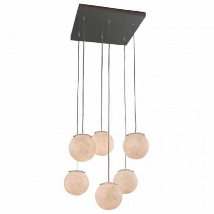 Moderní designový lustr In-es.artdesign Sei Lune v nebulitu