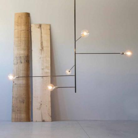Moderní ručně vyrobený lustr se železnou strukturou vyrobený v Itálii - Tinna