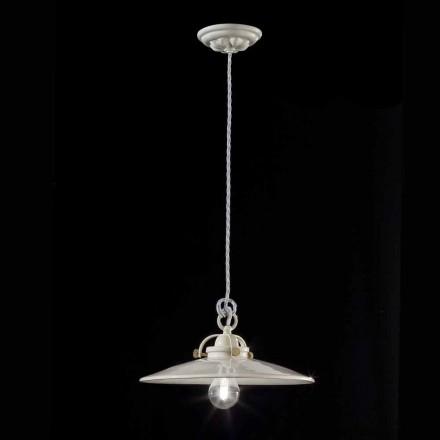 Průmyslová ročník lustr v lesklé keramické Gloria Ferroluce